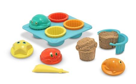 Melissa Doug Seaside Sidekicks Sand Cupcake Set 6431 1334bbf8-df3e-48e9-90d2-fd542f5b6ff5