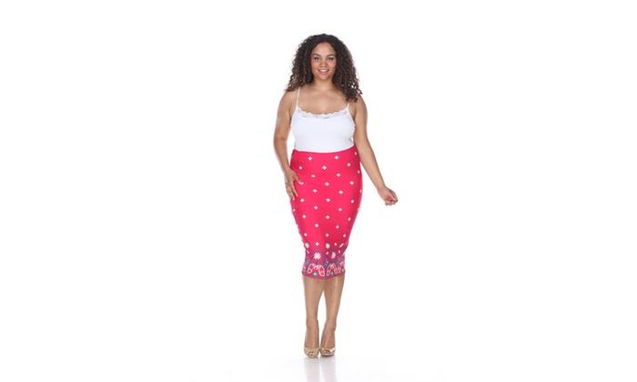 Fuchsia Plus Amber Pencil Skirt