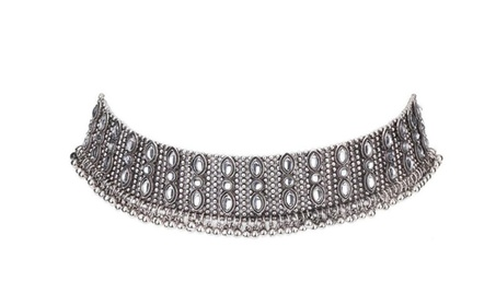 Fashion Style Alloy Crystal Rhinestone Chain Necklace for Women cf30338c-f78a-4714-92ba-124656d6456a