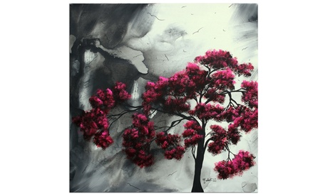 "Tree Art ""Pink Passion"" Black White Pink Abstract Landscape Artwork 061bc853-9182-41c5-bbbf-7f01bb99da78"