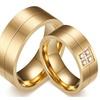 CZ Stone Stainless Steel Wedding Unisex Ring