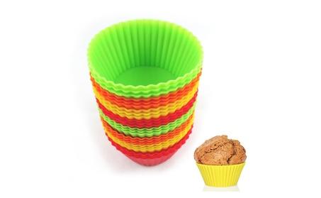 12pc Silicone Cupcake Cups 88462b5c-14d6-4011-a342-8da5ac43637c