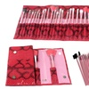 24 piece cosmetic brush set with roll-up case