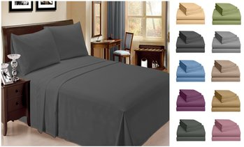 6 Piece Bamboo Sheet Set w/ 18 Inch Deep Pocket by LuxClub - 10 Colors - Group 2