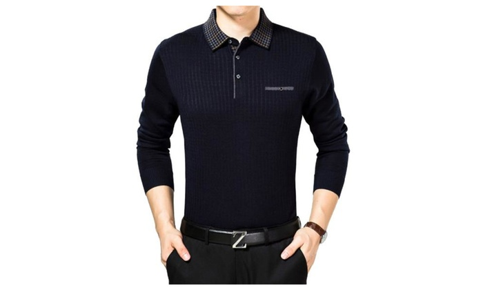 Men's Casual Long Sleeve Simple Casual Solid Pullovers
