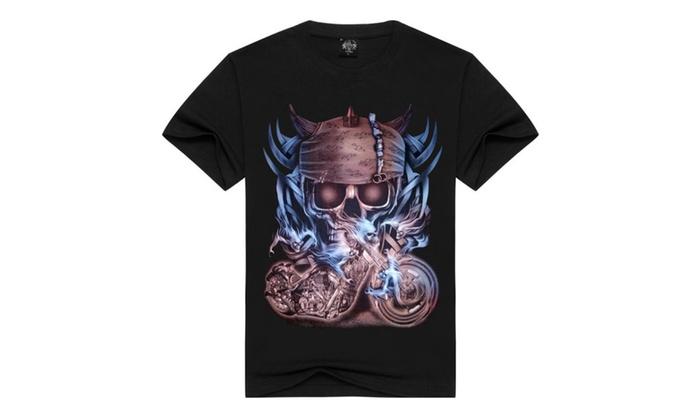 LINA Men's/Unisex Frida The Artist Sugar Skull Short Sleeve T-shirt