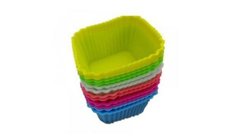 12pcs Silicone Square Cake Muffin Chocolate Baking Cup Mold 96a871f6-0eac-4de9-8e8f-34db583e5710