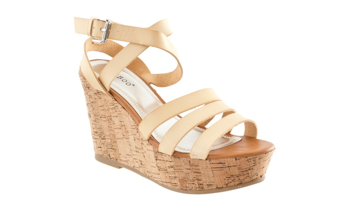 Riverberry Women's 'Pippa' Platform Wedge Sandals, Natural