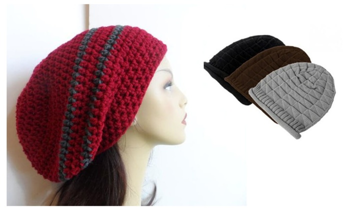 Unisex Knitted Slouchy Beanie Cap