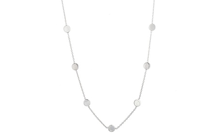 Sterling Silver Station Circle Cable Necklace 203b6fe6-bc3c-4117-a380-73b01ec76abd