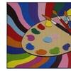 Multi Color Paint Brush Painting Kids Boys Girls Children's Area Rug