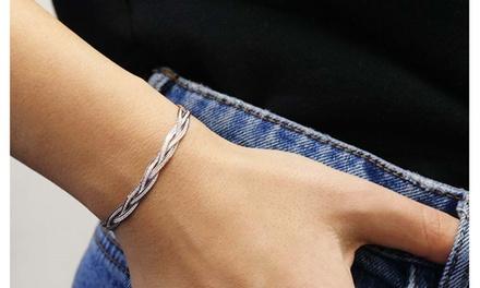 Sterling Silver 3 Row Braided Diamond Cut Herringbone Bracelets 3 Styles Was: $37.08 Now: $11.