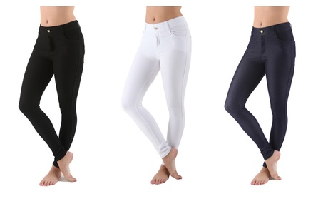 Women's Jean Leggings with Pockets - Long, Soft and Stretchable S-XXXL 37336314-0e4e-44f2-979e-1b427e1b0e54