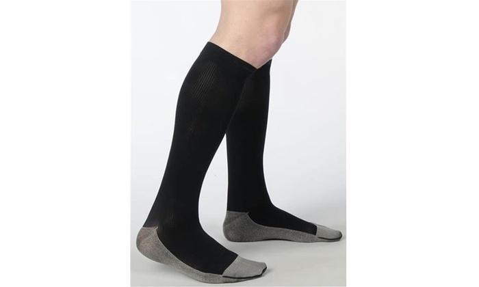 cc4c121c236 Juzo 2001RIADFFSH10 V Soft Ribbed Silver Sole Men apos s Knee Highs 20-30  mmHg S Single Multi-color