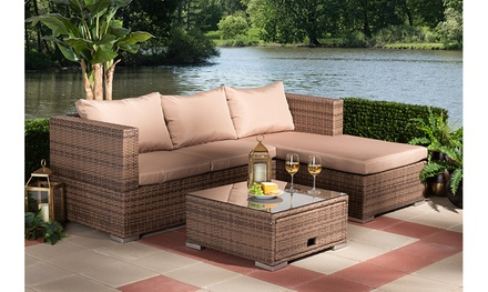 Addison 3-Piece Rattan Outdoor Patio Set with Adjustable Recliner