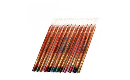 Menow Eye Liner 12 Color Pencil Long Makeup Lasting Fashion Wood 70033282-77c1-444f-abf0-eb5e573a0328