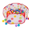 Kids' Pop-Up Six-Sided Ball Pit Tent with 200 Soft Crushproof Balls