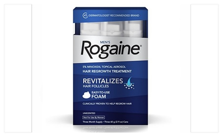 Men's Rogaine Hair Loss & Hair Thinning Treatment Minoxidil Foam df12cf1e-725e-4c6b-82f4-3955f198e0b8