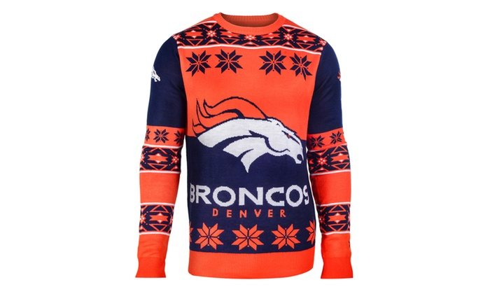 Up To 11 Off On Nfl Big Logo Ugly Crew Neck Groupon Goods