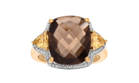 Journee Collection 14k Goldplated Sterling Silver Topaz Ring ba1ebbc8-d5cf-46a7-b8e0-0e1d2c8f536b