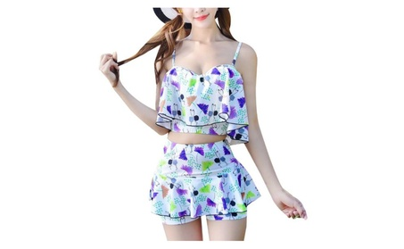Women's Breathable Printed Casual Tankinis Sets 77006399-7b1d-4722-9ccb-7a7410c0286a
