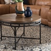 Austin Antique Bronze Round Livingroom Tables