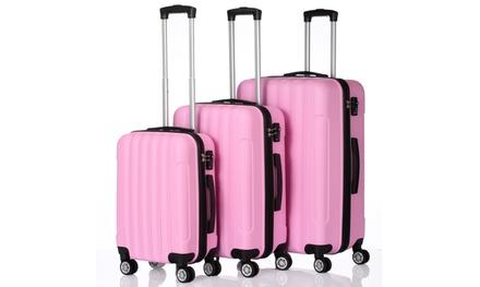 20″/24″/28″ 3 Piece Portable ABS Luggage Set Suitcase
