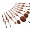 10-Piece Metallic Oval Makeup Brush Set
