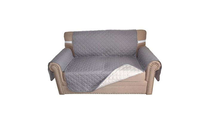 Double Sided Micro Suede Sofa 2 Person Seat Cushion ...