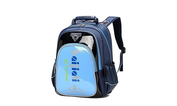 Kegoo Kids Boys Cool Hard Surface School Backpack Book Bags – Blue / Small
