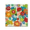 Silvia Vassileva 'Decorative Flowers Bright Crop' Canvas Art