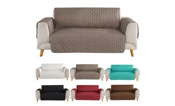 1/2/3 Seat Quilted Microfiber Sofa Couch Cover Pad Chair Throw Pet Dog Kids Mat