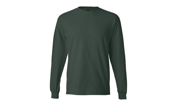 Hanes Long Sleeve Beety T-Shirt, 5186 Deep Colors