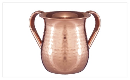Netila Hammered Stainless Steel Washing Cup Copper Plated 5.5 in. 03e51bca-19ec-4024-9a4e-bc1335b0d6a2