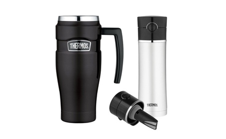 Thermos Stainless King 16oz Travel Mug w/ 16oz Tea Infuser Bottle 204759c0-2d77-4d2b-95d1-47c7290af067