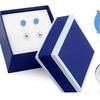 Blue Opal and Ball Stud Sterling Silver Set By MUIBLU Gems (2-Piece)