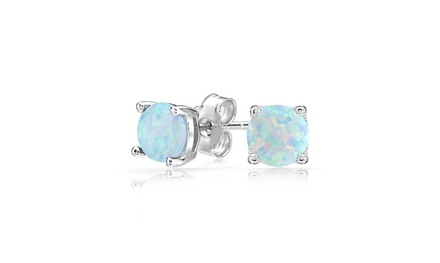 Oceanic Opal Classical Stud Earrings in 14K Gold - Three Options Was: $59.00 Now: $9.99