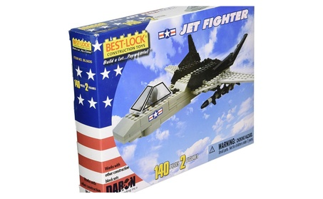 Daron Worldwide Trading BL5635 Jet Fighter 140 Piece Construction Toy 31f0f6e9-b66c-4d6f-a068-50288a412c4f
