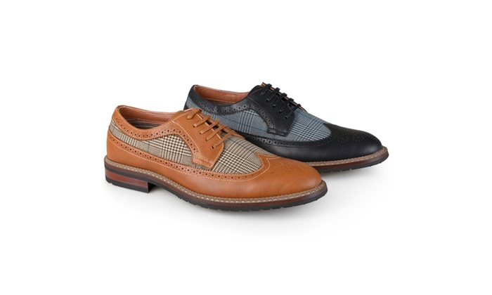 Vance Co. Mens Wing Tip Lace-up Oxford Dress Shoes