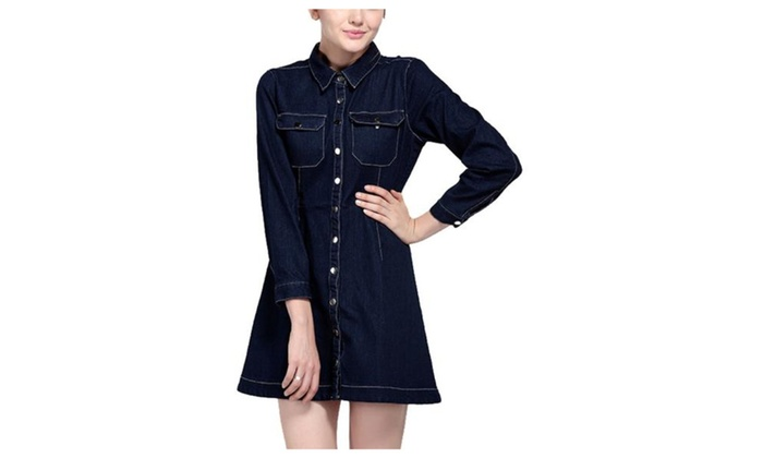 Women's Casual Loose Fit Casual Long Sleeve Denim Jacket
