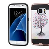 For Samsung Galaxy S7 Pink White Love Tree Hard Silicone Hybrid Case Cover