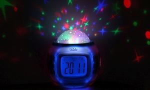 Starry Night Projection LED Alarm Clock