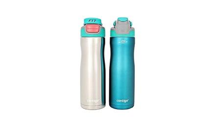 Contigo AUTOSEAL 20 Ounce Stainless-Steel Water Bottle, 2 Pack, Purple 66fb05d4-c61e-406e-895d-b1b2a33fb894