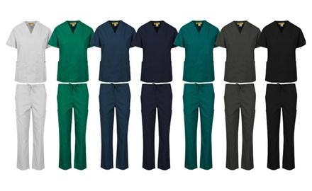 Medical Uniform Women and Man Medical Scrub Sets Top and Pant