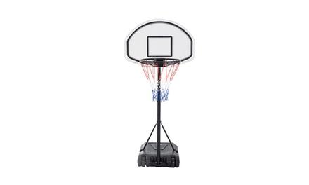 Adjustable Basketball Hoop System Backboard Swimming Pool Games Sport