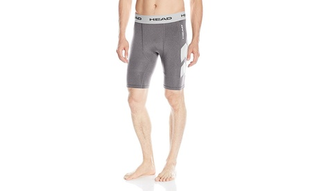 2 Pairs: HEAD Men's Stratus Mesh Insert Compression Shorts c7b270fb-96d9-469f-a1fb-fe7fd4e74e00
