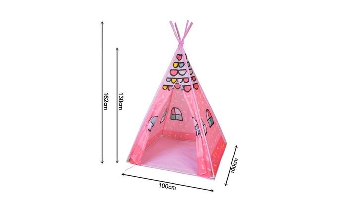 ... Midwest Service u0026 Supply Inc. Kidsu0027 Princess Pink Teepee Play Tent  sc 1 st  Groupon & Kidsu0027 Princess Pink Teepee Play Tent   Groupon