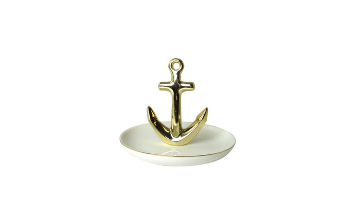 Gold Anchor Jewelry Dish Groupon