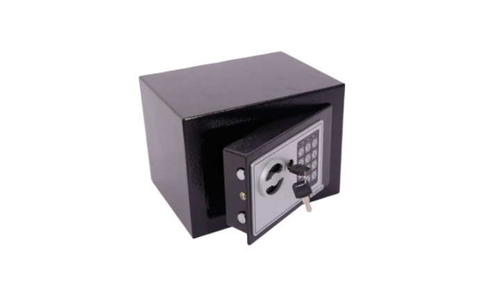 Use Electronic Password Steel Plate Safe Box Black