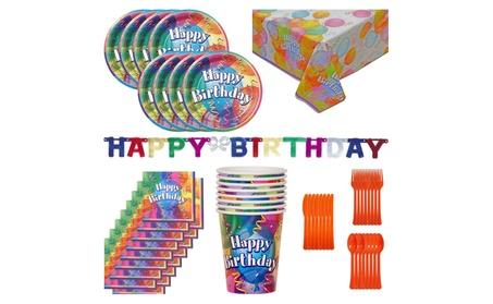 100 piece Birthday Party Kit for 8 NEW 2d9ce73d-771c-4da1-990d-4ac4d321ebc1